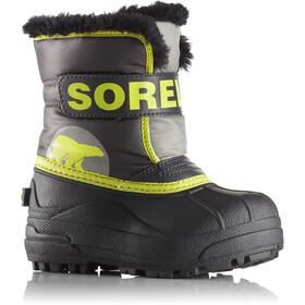 Sorel Snow Commander Boots Toddler Dark Grey/Warning Yellow